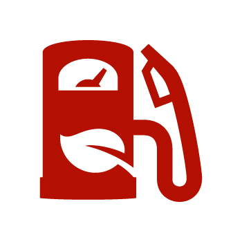 Red Biofuel Icon